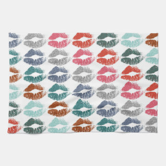 Stylish Colorful Lips #33 Kitchen Towel