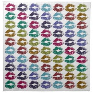 Stylish Colorful Lips #35 Napkin