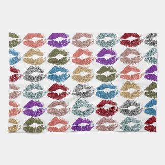 Stylish Colorful Lips #39 Kitchen Towel