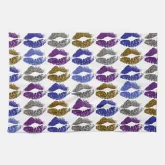 Stylish Colorful Lips #40 Kitchen Towel
