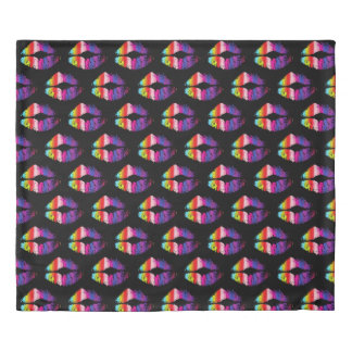 Stylish Colorful Lips #7 Duvet Cover