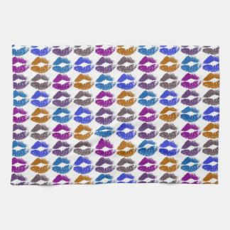Stylish Colorful Lips #9 Kitchen Towel