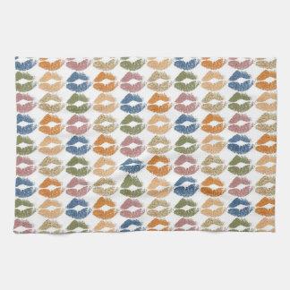 Stylish Colorful Lips Kitchen Towel