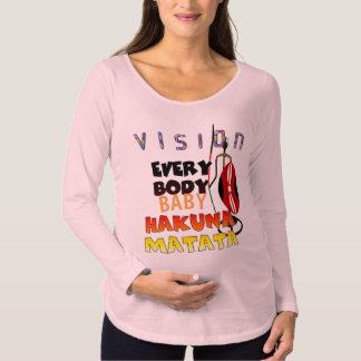 Stylish Colorful Vision Everybody Hakuna Matata Maternity T-Shirt