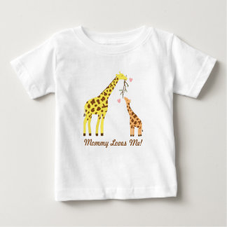 Stylish Colourful Giraffe Mommy and Baby Baby T-Shirt