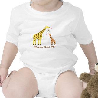 Stylish Colourful Giraffe Mommy and Baby Bodysuits