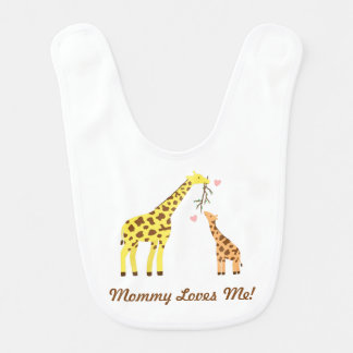 Stylish Colourful Giraffe Mommy and Baby Bibs