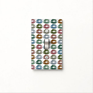 Stylish Colourful Lips #15 Light Switch Cover
