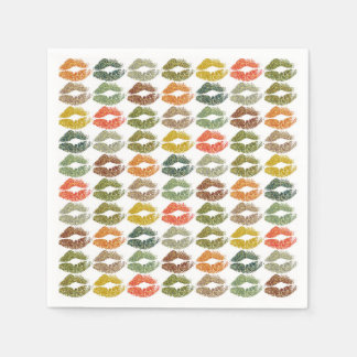 Stylish Colourful Lips #32 Disposable Napkins