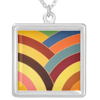 stylish contemporary chevron square pendant necklace