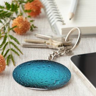 Stylish Cool Blue water drops Keychain