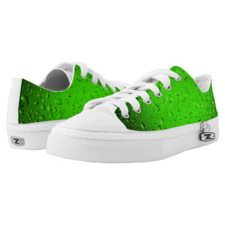 Stylish Cool Green water drops Low-Top Sneakers