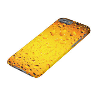 Stylish Cool Yellow water drops beer Barely There iPhone 6 Case