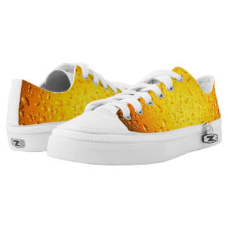 Stylish Cool Yellow water drops beer Low-Top Sneakers