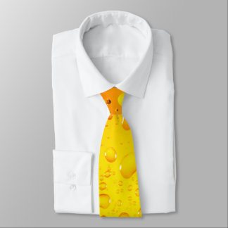 Stylish Cool Yellow water drops beer Tie