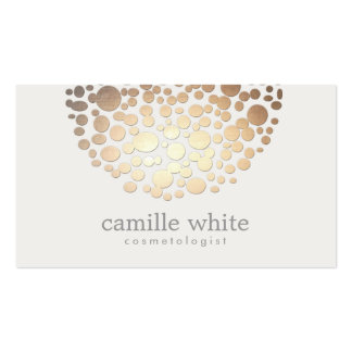 Stylish Cosmetology Faux Gold Foil Circle Pattern Business Card