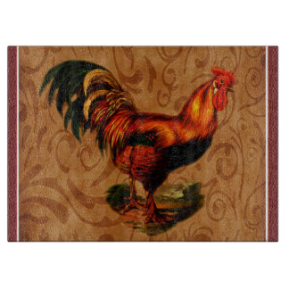Stylish Country Rooster Kitchen Cutting Board
