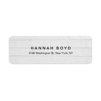 Stylish Creative Grey Wall Modern Professional Return Address Label