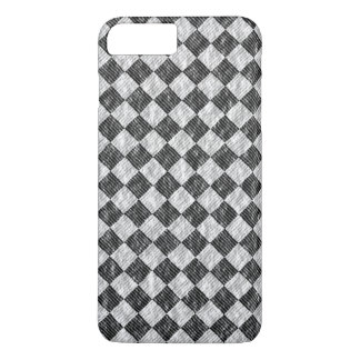 Stylish Cross Thatch Weave Black & White Checkers iPhone 8 Plus/7 Plus Case