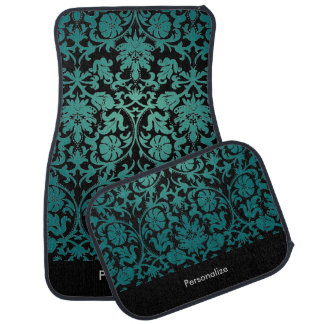 Stylish Damask in Teal   DIY Background Car Liners