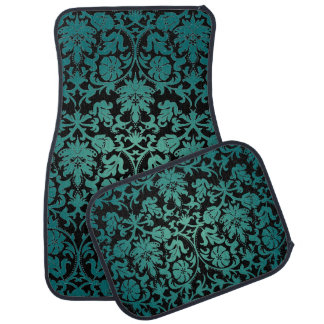 Stylish Damask in Teal | DIY Background Car Mat