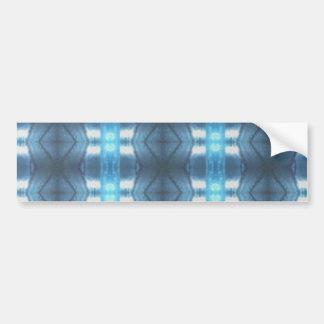 Stylish Dark and Light Blue Diamonds Bumper Sticker
