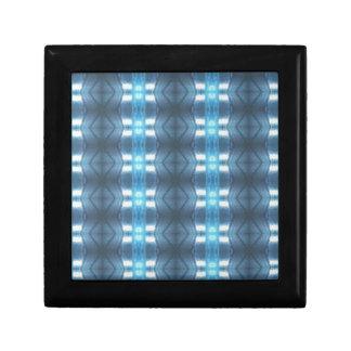 Stylish Dark and Light Blue Diamonds Keepsake Boxes