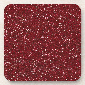 Stylish Dark Red Glitter Coasters