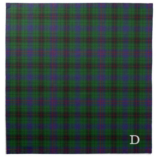 Stylish Davidson Monogram Tartan Plaid Napkin