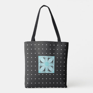 Stylish-Day-Bags's_Vintage Mod Dot's-Flower-TOTE'S Tote Bag