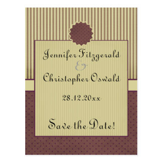 Stylish Deco style save the date Post Cards