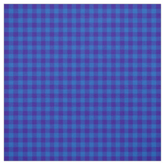 Stylish Deep Blue Check Gingham Pattern Fabric