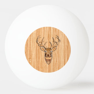 Stylish Deer Head Light Wood Grain Print Ping Pong Ball