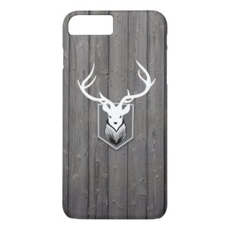 Stylish Deer Hunting Wood Stripes iPhone 7 Plus Case