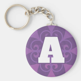 Stylish Design Initial Letter Keychain