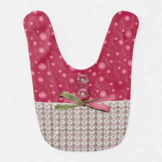 Stylish Designer False Frill and Button, Baby Bib