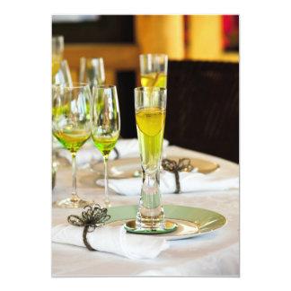 "Stylish dining table arrangement close up 5"" x 7"" invitation card"