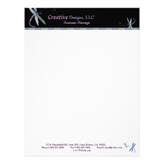 Stylish Dragonfly Designer Business Letterhead