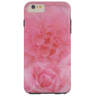 Stylish Dreamy Floral Light Pink Rose Collage Tough iPhone 6 Plus Case