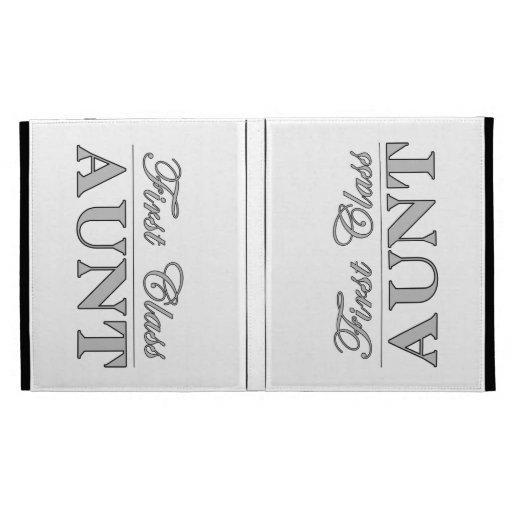 Stylish Elegant Aunts : First Class Aunt iPad Folio Covers