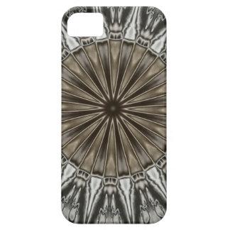 Stylish Elegant Kaleidoscope Design Brown Gray iPhone 5 Cover