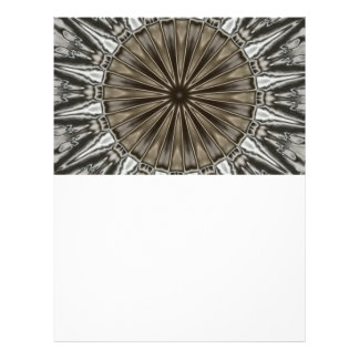 Stylish Elegant Kaleidoscope Design Brown Gray Letterhead Template