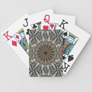 Stylish Elegant Kaleidoscope Design Brown Gray Poker Deck
