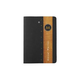 stylish & elegant, masculine passport holder