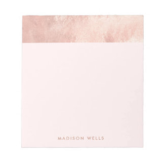 Stylish Elegant Rose Gold Pink Notepad