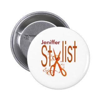 Stylish Elegant Stylist Design 2 Inch Round Button