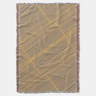 Stylish Elegant Tan Gray Striped Pattern Throw Blanket