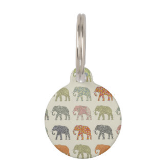 Stylish Elephant Pattern Pet Tag