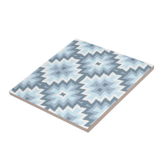 Stylish Ethnic Ikat Kilim Tribal Mosaic Pattern Tile