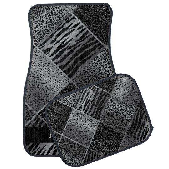 Stylish Exotic Animal Patterns | Grey & Black Floor Mat